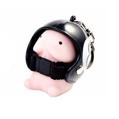 Jumbo Squishy Cartoon Boy with Helmet Cute Keychain Squeeze Stress Reliever Toy