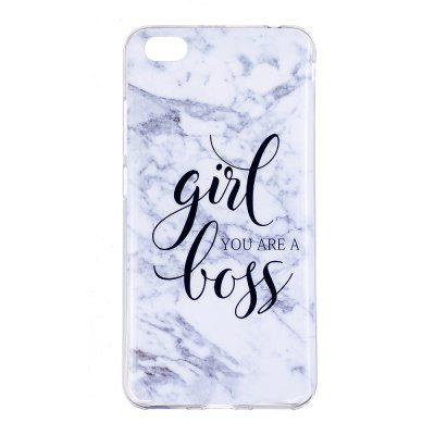 Girl Characters Ultra Thin Marble Stone Patterned Soft TPU Phone Case for Xiaomi Redmi Note 5A