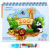 Magic Water Drawing Doodle with Pen Painting Board Coloring Book for Kids Toys - RED