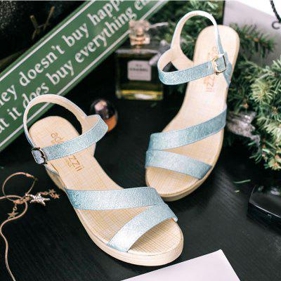 New Fashion Leisure  High Heel Womens SandalsWomens Sandals<br>New Fashion Leisure  High Heel Womens Sandals<br><br>Available Size: 35 36 37 38 39 40 41<br>Closure Type: Buckle Strap<br>Gender: For Women<br>Heel Type: Wedge Heel<br>Occasion: Casual<br>Package Content: 1?shoes(pair)<br>Pattern Type: Solid<br>Sandals Style: Ankle Strap<br>Style: Fashion<br>Upper Material: PU<br>Weight: 0.8580kg
