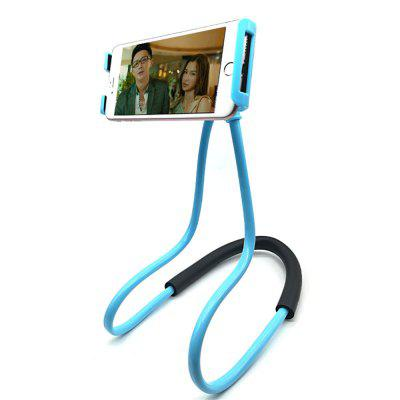 Hanging on Neck Cell Phone Mount Holder Universal Mobile Phone Stand Lazy Bracket DIY Free Rotating for Multiple Functio