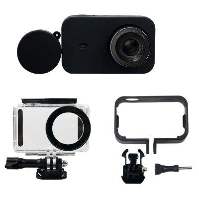 Camera Accessories Kit Waterproof + Side Protect Frame + Silicone Case + Lens Cover for Xiaomi Mi jia