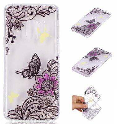 TPU Material Diagonal Flower Pattern Painted Phone Case for Samsung Galaxy S9 enkay protective tpu back case w holder stand for samsung galaxy note 3 n9000 pink