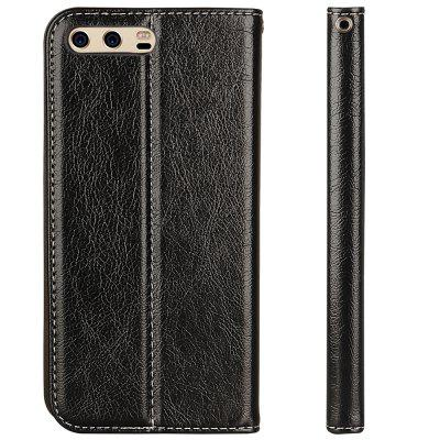 For Huawei P10 Business Leather Case Magnetic Closure Wallet Stand Cover cover case for huawei p10 lite half a face of a cat pu tpu leather with stand and card slots magnetic closure