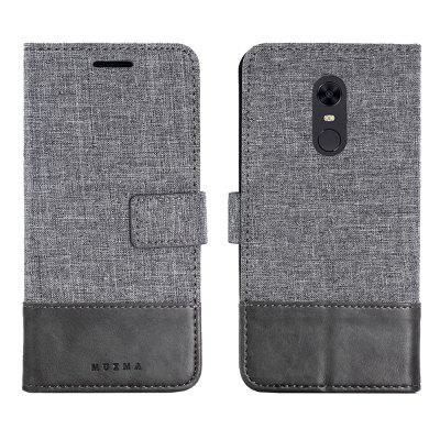 MUXMA  Mixed Colors Cloth Lines Wallet Case for Xiaomi Redmi 5 Plus