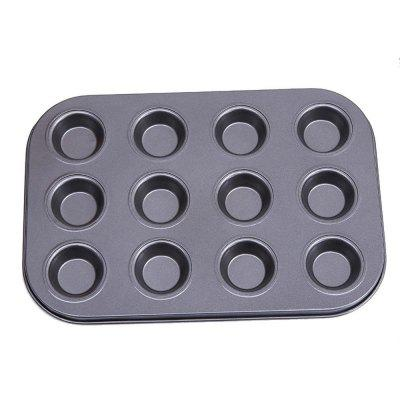 Cupcake Muffin Cake Tool DIY Baking Tray 12 Holes Round Non Stick MoldBaking &amp; Pastry Tools<br>Cupcake Muffin Cake Tool DIY Baking Tray 12 Holes Round Non Stick Mold<br><br>Available Color: Black<br>Material: Carbon steel<br>Package Contents: 1 x Baking Tray<br>Package size (L x W x H): 36.00 x 26.00 x 3.80 cm / 14.17 x 10.24 x 1.5 inches<br>Package weight: 0.3800 kg<br>Product size (L x W x H): 33.50 x 25.40 x 2.80 cm / 13.19 x 10 x 1.1 inches<br>Product weight: 0.3600 kg<br>Type: Bakeware