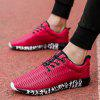 ZEACAVA Men's New Running  Breathable Sneakers Outdoor Sport Shoes - RED