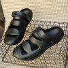 ZEACAVA Summer Men's Casual Sandals Lightweight Garden Shoes - BLACK