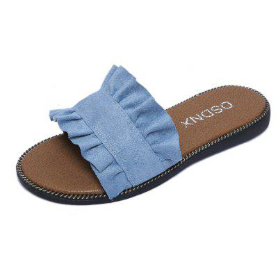 Buy Summer New Flat Outside Wear Comfortable Non-slip Cool Slippers OCEAN BLUE 36 for $25.74 in GearBest store