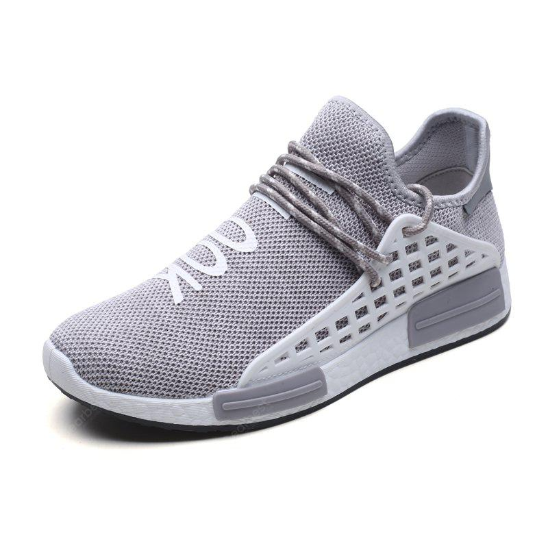Men Casual Hiking Outdoor Mesh Lace-Up Breathable Shoes