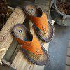 Men Sandals Hiking Summer Leisure Casual Soft Sport Beach Slippers Fashion Shoes - CAMEL BROWN