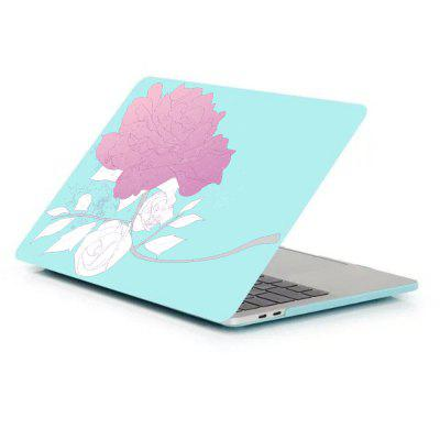 Case for Macbook Pro 13.3 inch A1706/A1708 Matte Hard Shell Rose Pattern