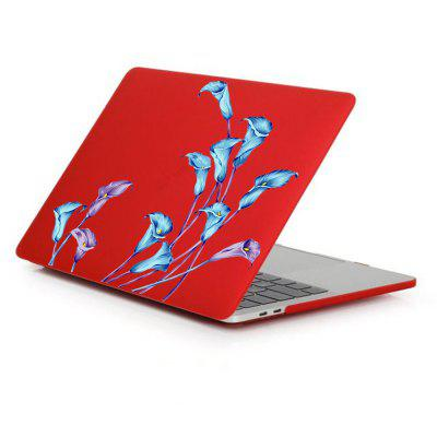 Case for Macbook Air 13.3 inch Rubberized Matte Hard Shell Lily Pattern