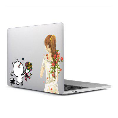 Computer Shell Laptop Case Keyboard Film Surface + Low for MacBook Pro 13.3 inch 3D Small Fresh Series 11