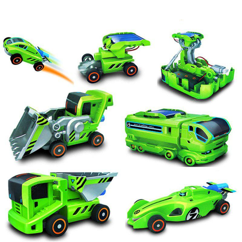 7 in 1 Solar Power Car Kit Educational Toy – GREEN