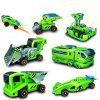 7 in 1 Solar Power Car Kit Educational Toy - GREEN