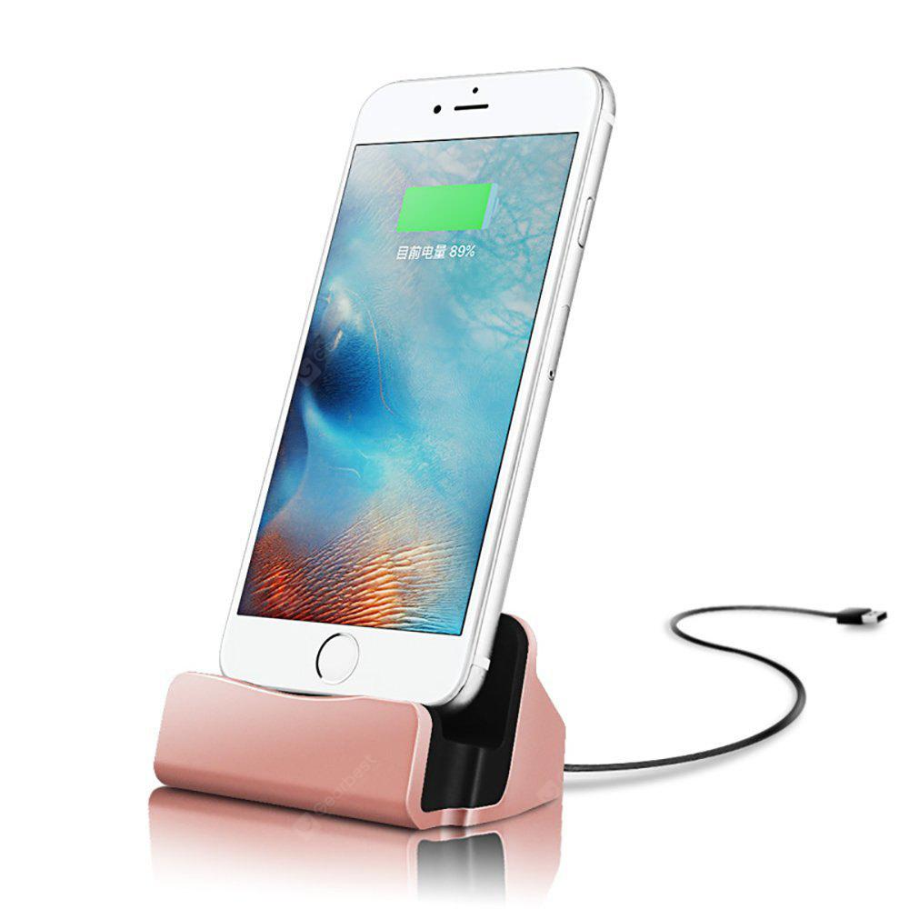 Charging Station Charger Dock Charging Station Charger Dock iPhone 8/ 8 Plus /iPhon X/ 7 Plus/7 6S 6S Plus 5 - ROSE