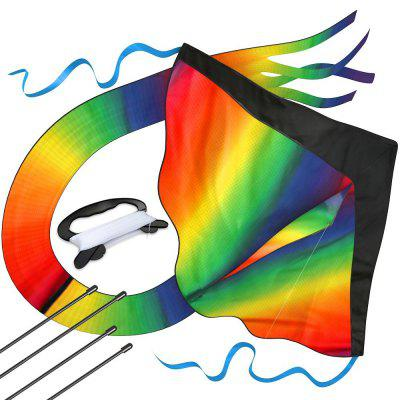 Huge Rainbow Kite for Kids Summer Games Outdoor Activites