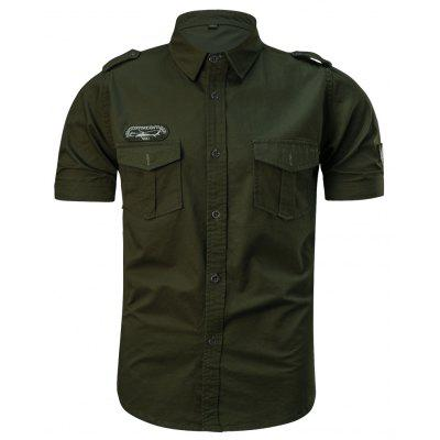 2018 Summer New Military Multi-Pocket Short-Sleeved Plus Size Mens ShirtMens Shirts<br>2018 Summer New Military Multi-Pocket Short-Sleeved Plus Size Mens Shirt<br><br>Collar: Turn-down Collar, Turn-down Collar<br>Fabric Type: Satin, Satin<br>Material: Cotton, Cotton<br>Package Contents: 1 xShirt, 1 xShirt<br>Shirts Type: Casual Shirts<br>Sleeve Length: Short, Short<br>Weight: 0.2500kg, 0.2500kg