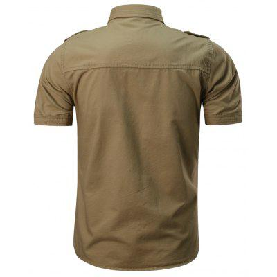 2018 Summer New Military Multi-Pocket Short-Sleeved Plus Size Mens ShirtMens Shirts<br>2018 Summer New Military Multi-Pocket Short-Sleeved Plus Size Mens Shirt<br><br>Collar: Turn-down Collar<br>Fabric Type: Satin<br>Material: Cotton<br>Package Contents: 1 xShirt<br>Shirts Type: Casual Shirts<br>Sleeve Length: Short<br>Weight: 0.2500kg
