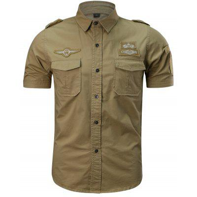Mens Summer Short Sleeve  Military  ShirtMens Shirts<br>Mens Summer Short Sleeve  Military  Shirt<br><br>Collar: Turn-down Collar<br>Fabric Type: Satin<br>Material: Cotton<br>Package Contents: 1 x Shirt<br>Shirts Type: Casual Shirts<br>Sleeve Length: Full<br>Weight: 0.3000kg