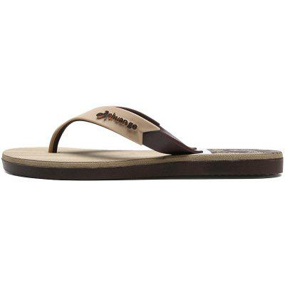 New Men Pure Color Plane Flat Beach Casual Slippers