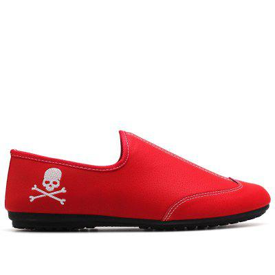 New Men Solid Color Fashion Peas ShoesFlats &amp; Loafers<br>New Men Solid Color Fashion Peas Shoes<br><br>Available Size: 39-44<br>Closure Type: Slip-On<br>Embellishment: Embroidery<br>Gender: Unisex<br>Outsole Material: Rubber<br>Package Contents: 1 x shoes(pair)<br>Pattern Type: Skull<br>Season: Summer, Spring/Fall<br>Toe Shape: Square Toe<br>Toe Style: Closed Toe<br>Upper Material: Cloth<br>Weight: 1.5972kg
