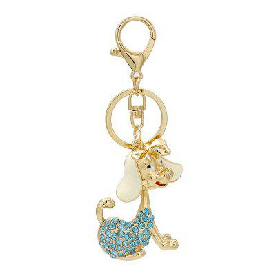 Creative Kawaii Dog Shape Decoration Rhinestone Key Chain