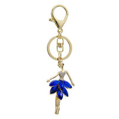Creative Ballerina Girl Style Decoration Rhinestone Key Chain