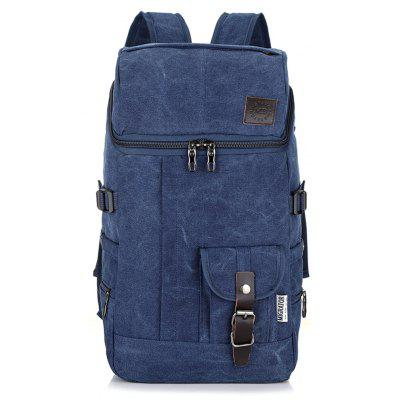Fashion Simple Wild Large Capacity Male Outdoor Travel Canvas Backpack