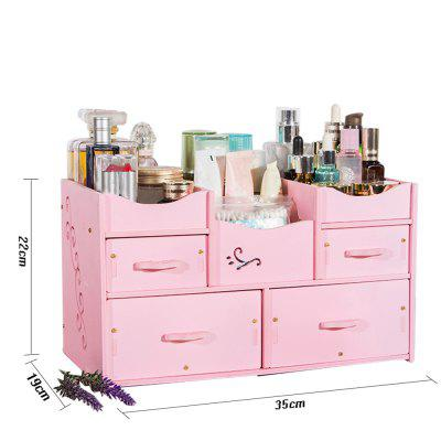 HECARE Plastic Makeup Organizer Waterproof Container Jewelry Container for Cosmetic High-capacity Make Up Storage CaseStorage Boxes &amp; Bins<br>HECARE Plastic Makeup Organizer Waterproof Container Jewelry Container for Cosmetic High-capacity Make Up Storage Case<br><br>Available Color: Pink,White<br>Functions: Home, Living Room, Bathroom, Bedroom, Dining Room, Office<br>Materials: PVC<br>Package Contents: 1 x Storage Box<br>Package Size(L x W x H): 35.00 x 25.00 x 5.00 cm / 13.78 x 9.84 x 1.97 inches<br>Package weight: 1.6170 kg<br>Product Size(L x W x H): 30.00 x 20.00 x 2.50 cm / 11.81 x 7.87 x 0.98 inches<br>Product weight: 1.6170 kg<br>Types: Storage Boxes and Bins