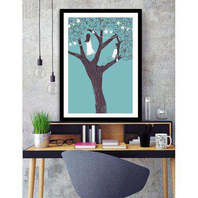 Canvas Inkjet Abstract Cute Simple Painting Living Room Bedroom ...