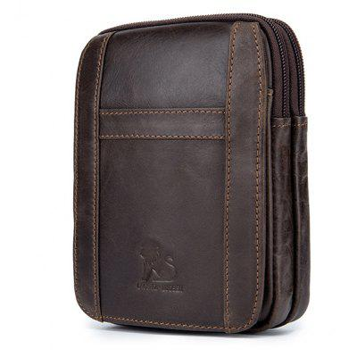 LAOSHIZI LUOSEN Spring New Arrival Genuine Leather Cowhide for  Men's Cell Phone Bags