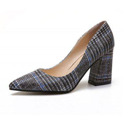 Summer New Pointed Thick with Single Shoes