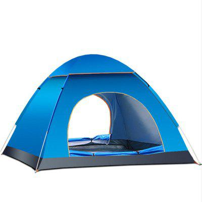 Folding Tent Automatic Open Double Doors Persons Anti-UV for Camping