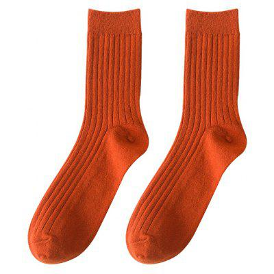 Men's Socks Candy Colored Stockings Middle Tube