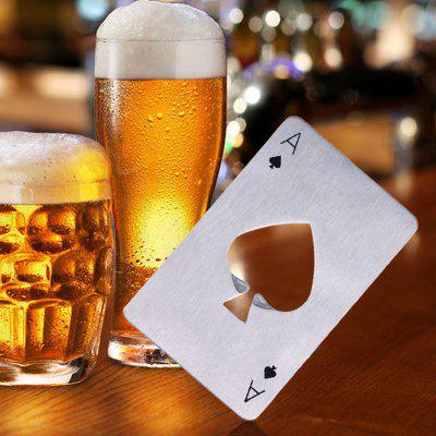 Stainless Steel Credit Card Size Casino Bottle Opener