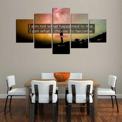 MailingArt FIV621  5 Panels Landscape Wall Art Painting Home Decor Canvas PrintPrints<br>MailingArt FIV621  5 Panels Landscape Wall Art Painting Home Decor Canvas Print<br><br>Craft: Print<br>Form: Five Panels<br>Material: Canvas<br>Package Contents: 5 x Print<br>Package size (L x W x H): 38.00 x 8.00 x 8.00 cm / 14.96 x 3.15 x 3.15 inches<br>Package weight: 0.3000 kg<br>Painting: Without Inner Frame<br>Product size (L x W x H): 37.00 x 7.00 x 7.00 cm / 14.57 x 2.76 x 2.76 inches<br>Product weight: 0.2800 kg<br>Shape: Horizontal Panoramic<br>Style: Concise, Exotic<br>Subjects: Words / Quotes<br>Suitable Space: Living Room,Bathroom,Bedroom,Dining Room,Office,Hotel,Cafes,Pathway,Corridor,Study Room / Office