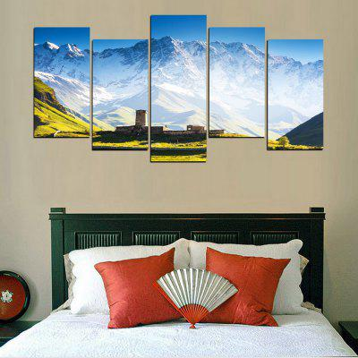 MailingArt FIV637  5 Panels Landscape Snow Mountain Wall Art Painting Home Decor Canvas PrintPrints<br>MailingArt FIV637  5 Panels Landscape Snow Mountain Wall Art Painting Home Decor Canvas Print<br><br>Craft: Print<br>Form: Five Panels<br>Material: Canvas<br>Package Contents: 5 x Print<br>Package size (L x W x H): 38.00 x 8.00 x 8.00 cm / 14.96 x 3.15 x 3.15 inches<br>Package weight: 0.3000 kg<br>Painting: Without Inner Frame<br>Product size (L x W x H): 37.00 x 7.00 x 7.00 cm / 14.57 x 2.76 x 2.76 inches<br>Product weight: 0.2800 kg<br>Shape: Horizontal Panoramic<br>Style: Office / Business, Modern / Contemporary, Scenery / Landscape, Landscape, Natural, Realism<br>Subjects: Landscape<br>Suitable Space: Living Room,Bedroom,Dining Room,Office,Hotel,Cafes,Kids Room,Kitchen,Hallway,Kids Room,Study Room / Office
