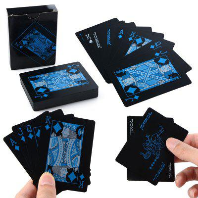 Creative Black Plastic PVC Poker Waterproof Magic Playing Cards Jogos de mesa 54pcs