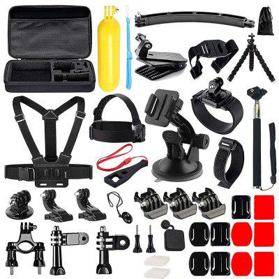 50 in 1 Action Camera Accessories Kit for Gopro Hero 6 /5/ 4 /3/ Sj4000/Sj5000/Sj6000/Sj7000/Xiaomi Yi only $38.99