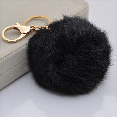Cartoon Hairball Rabbit Pendant Keychain