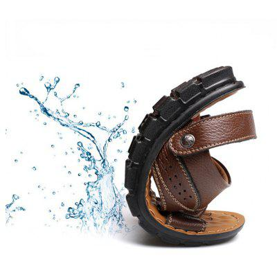 Open Toe MenS Sandals Slippers Casual Cowhide Beach ShoesMens Sandals<br>Open Toe MenS Sandals Slippers Casual Cowhide Beach Shoes<br><br>Available Size: 37 38 39 40 41 42 43 44 45 46 47<br>Closure Type: Elastic band<br>Embellishment: Rivet<br>Gender: For Men<br>Heel Hight: 2-3CM<br>Occasion: Casual<br>Outsole Material: TPR<br>Package Contents: 1 x Shoes(pair)<br>Pattern Type: Checkered<br>Sandals Style: Slides<br>Style: Leisure<br>Upper Material: Genuine Leather<br>Weight: 1.4784kg