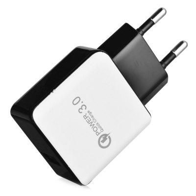 SpedCrd Universal  Quick Charge QC3.0 USB Charger universal battery charger w usb outlet for sony ericsson x10i more black 2 flat pin plug