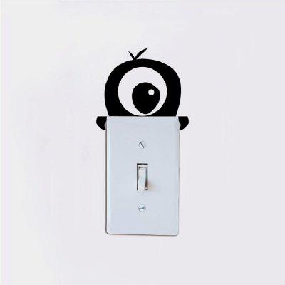 DSU Cute One-Eyed Monster Switch Sticker Cartoon Monster Vinyl Wall Sticker for KidsWall Stickers<br>DSU Cute One-Eyed Monster Switch Sticker Cartoon Monster Vinyl Wall Sticker for Kids<br><br>Art Style: Plane Wall Stickers, Toilet Stickers<br>Artists: Others<br>Brand: DSU<br>Color Scheme: Black<br>Effect Size (L x W): 9.8 x 11 cm<br>Function: Light Switch Stickers, Decorative Wall Sticker, Fridge Sticker<br>Layout Size (L x W): 9.8 x 11 cm<br>Material: Vinyl(PVC)<br>Package Contents: 1 x Wall Sticker<br>Package size (L x W x H): 11.00 x 13.00 x 0.01 cm / 4.33 x 5.12 x 0 inches<br>Package weight: 0.0200 kg<br>Product size (L x W x H): 9.80 x 11.00 x 0.01 cm / 3.86 x 4.33 x 0 inches<br>Product weight: 0.0100 kg<br>Quantity: 1<br>Subjects: Fashion,Letter,Cute,Cartoon,Famous,Game<br>Suitable Space: Living Room,Bedroom,Hotel,Kids Room,Entry,Kitchen,Pathway,Door,Corridor,Hallway,Boys Room,Game Room<br>Type: Plane Wall Sticker