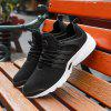 ZEACAVA Men Mesh Trendy Breathable Wild Men's Sports Shoes - BLACK