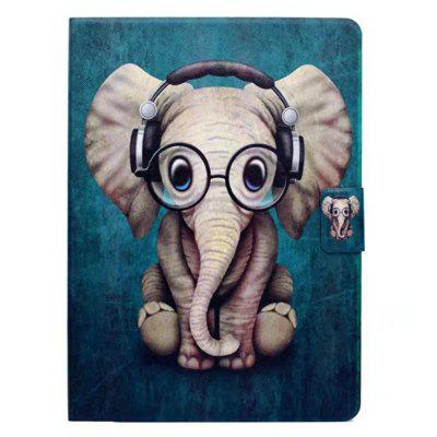 Case for Samsung Galaxy Tab 3 P5200 Card Holder with Stand Flip Pattern Full Body Elephant Hard PU Leather