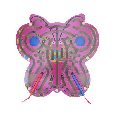 Children Toy Wooden Butterfly Magnetic Pen Parent-Child Game