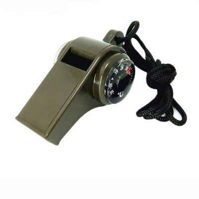 3 in 1 Outdoor Survival Whistle Compass Camping For Sports Games Whistles Hiking Emergency