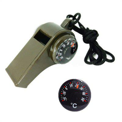 3 in 1 Outdoor Survival Whistle Compass Camping For Sports Games Whistles Hiking Emergency цена и фото
